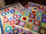 Jeanies red and yellow quilts