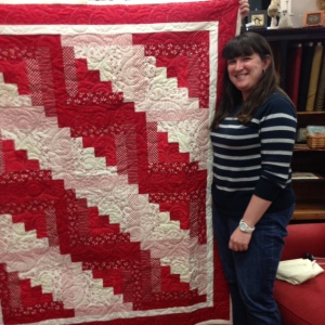 Paula and her quilt