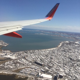 On my way to a great quilt show! Flying in to Boston